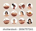 female shapes and landscapes... | Shutterstock .eps vector #1836757261
