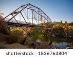 Old Walking Bridge In Folsom Ca ...