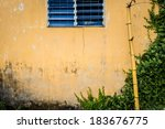 Facade Of Aged House. Wall Of...