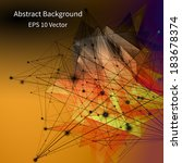 3d abstract background with... | Shutterstock .eps vector #183678374