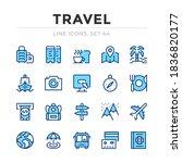 travel vector line icons set.... | Shutterstock .eps vector #1836820177