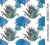 Seamless Pattern Blue And Green ...