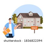 house sale rent agent... | Shutterstock .eps vector #1836822394