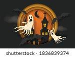 happy halloween banner or party ... | Shutterstock .eps vector #1836839374