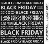 banner for black friday in red... | Shutterstock .eps vector #1836841054