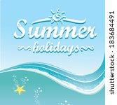 summer paradise beach... | Shutterstock .eps vector #183684491