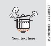 boiling pot | Shutterstock .eps vector #183685577