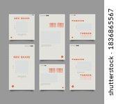 trendy editable template for... | Shutterstock .eps vector #1836865567