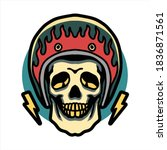 skull rider illustration vector ... | Shutterstock .eps vector #1836871561
