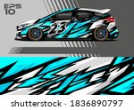 race car wrap decal graphic...   Shutterstock .eps vector #1836890797