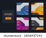 digital marketing social media... | Shutterstock .eps vector #1836937141