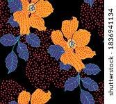 beautiful seamless floral... | Shutterstock . vector #1836941134