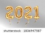 2021 golden decoration holiday... | Shutterstock .eps vector #1836947587