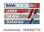 raw denim  modern and stylish... | Shutterstock .eps vector #1836961774