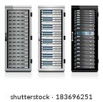 three servers   server in...   Shutterstock .eps vector #183696251