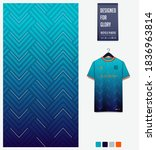 fabric pattern design. geometry ... | Shutterstock .eps vector #1836963814