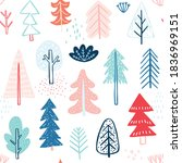 seamless pattern with cute... | Shutterstock .eps vector #1836969151