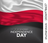 poland happy independence day...   Shutterstock .eps vector #1836978637