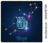 vector constellation virgo with ... | Shutterstock .eps vector #183698789
