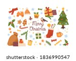collection of new year and... | Shutterstock .eps vector #1836990547