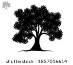 black tree symbol style and... | Shutterstock .eps vector #1837016614