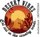 western arizona desert... | Shutterstock .eps vector #1837033264