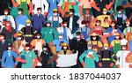 mix race people of different... | Shutterstock .eps vector #1837044037