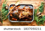 Baked Goose Stuffed With...