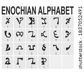vector icon set with ancient... | Shutterstock .eps vector #1837052491
