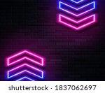 futuristic sci fi modern neon... | Shutterstock .eps vector #1837062697
