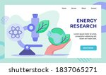energy research microscope... | Shutterstock .eps vector #1837065271