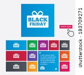 black friday gift sign icon.... | Shutterstock .eps vector #183709271