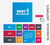 best boyfriend ever sign icon.... | Shutterstock .eps vector #183709871