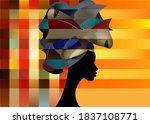 portrait beautiful african... | Shutterstock .eps vector #1837108771