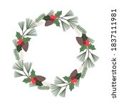 Christmas Floral Wreath With...