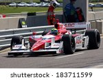 Birmingham Alabama USA - April 10, 2011: 14 Vitor Meira, Brazil A. J. Foyt Enterprises - stock photo