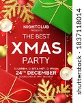 christmas party poster... | Shutterstock .eps vector #1837118014