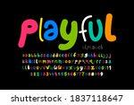 playful style font design ... | Shutterstock .eps vector #1837118647