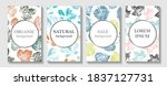 tropic covers set. cool floral... | Shutterstock .eps vector #1837127731