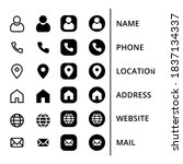 icons business card. vector... | Shutterstock .eps vector #1837134337
