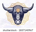 ornatetaurus zodiac star sign... | Shutterstock .eps vector #1837140967