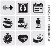 fitness set | Shutterstock .eps vector #183714359