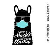 wear a mask design with... | Shutterstock .eps vector #1837155964