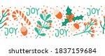 seamless christmas border hand... | Shutterstock .eps vector #1837159684
