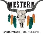 tribal native american western... | Shutterstock .eps vector #1837161841