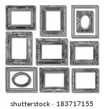 the collection antique frame on ... | Shutterstock . vector #183717155