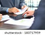 business colleagues working... | Shutterstock . vector #183717959