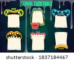 education school timetable with ...   Shutterstock .eps vector #1837184467