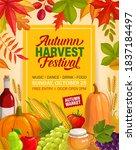 autumn harvest festival vector... | Shutterstock .eps vector #1837184497