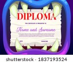 Education School Diploma With...